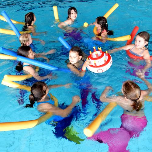 Geburtstagsparty, Schwimmschule Rätia